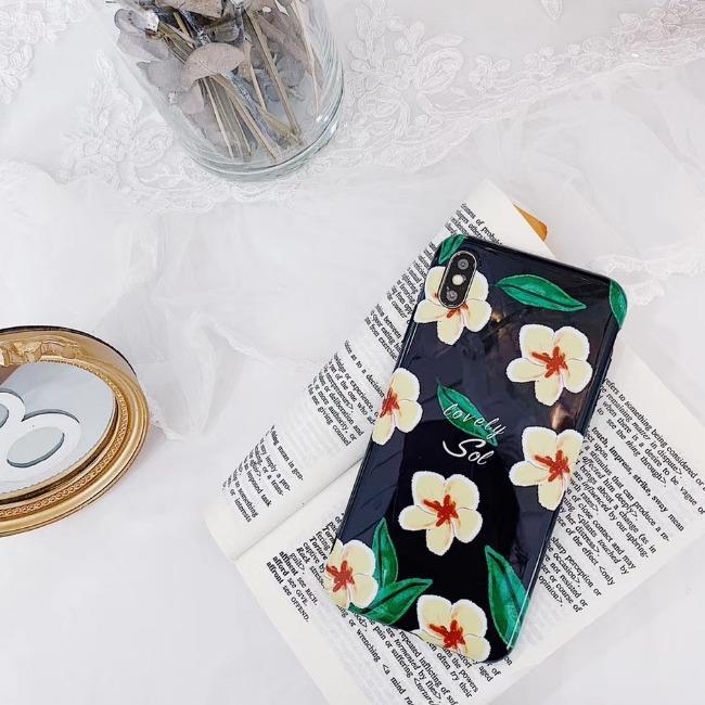 قاب ژله ای طرح گل Black Flower TPU Case iPhone 7
