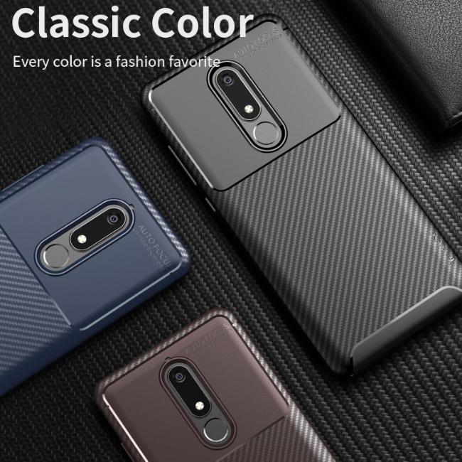 قاب ژله ای طرح کربن نوکیا Autofocus Carbon Case Nokia 6
