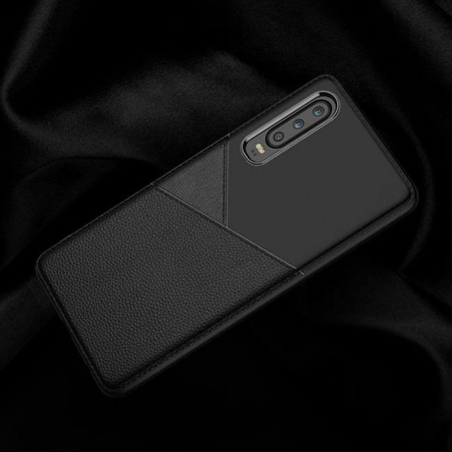 قاب ژله ای طرح چرم هواوی Huawei P30 Leather TPU Case