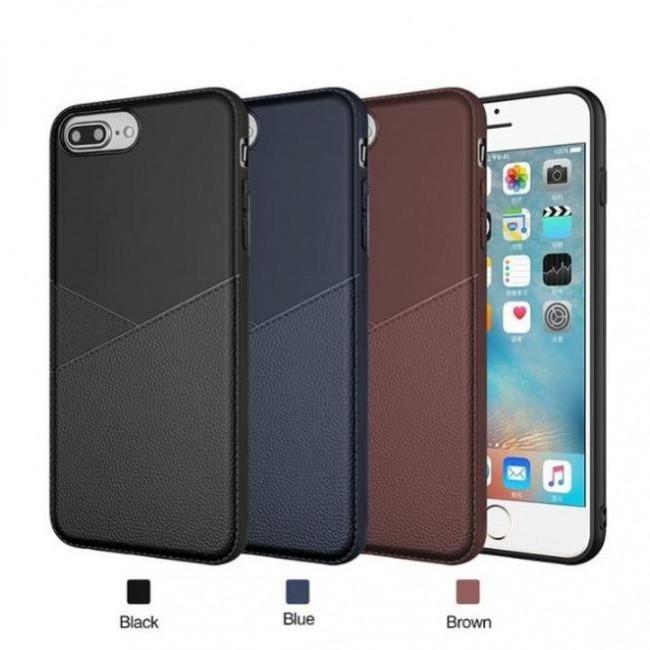 قاب ژله ای طرح چرم هواوی Huawei Y6 2018 Leather TPU Case