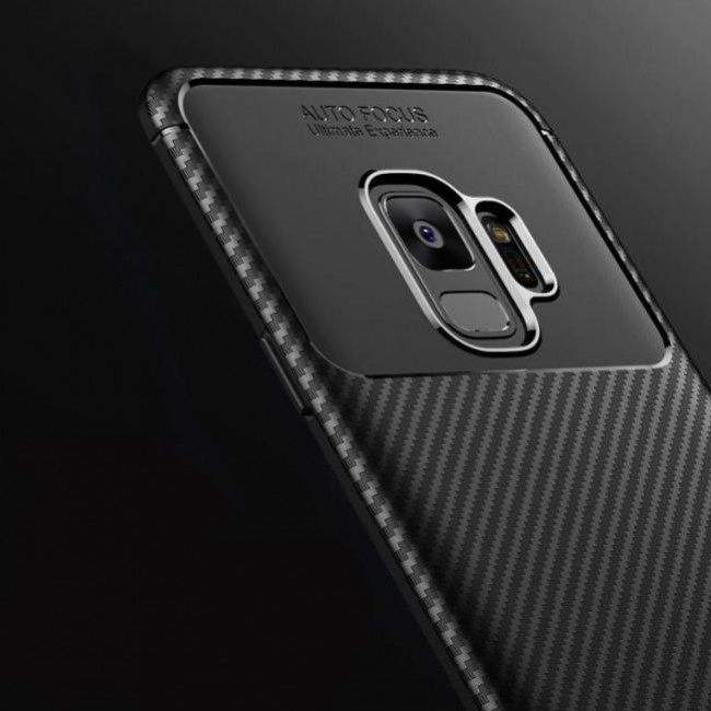 قاب ژله ای طرح کربن سامسونگ Autofocus Carbon Case Galaxy S9