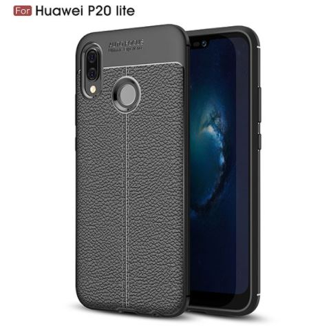 قاب ژله ای طرح چرم Auto Focus Case Huawei P20 Lite
