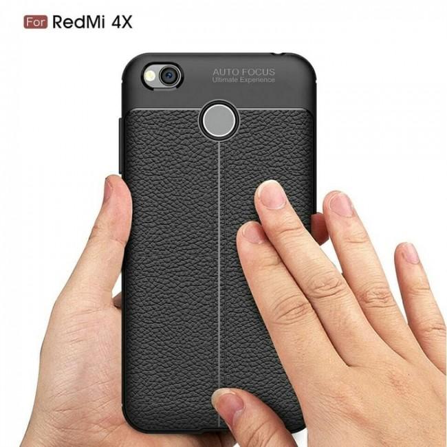 قاب ژله ای طرح چرم Auto Focus Case Xiaomi Redmi 4X