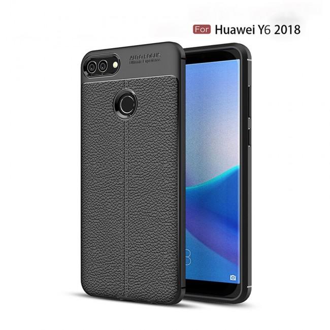 قاب ژله ای طرح چرم Auto focus Case Huawei Y6 2018