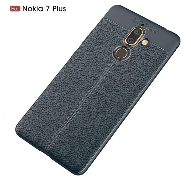 قاب ژله ای طرح چرم Auto Focus Case Nokia Nokia 7 Plus
