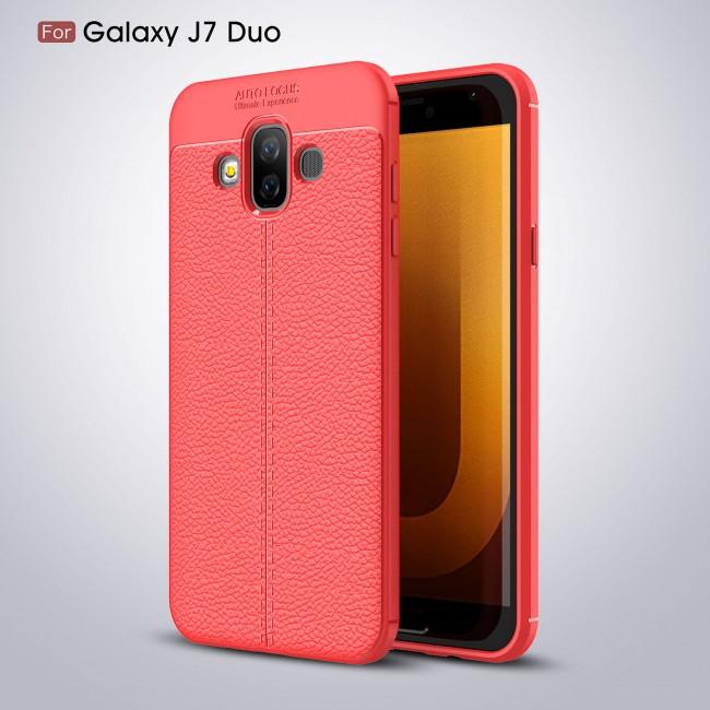 قاب ژله ای طرح چرم Auto Focus Case Samsung Galaxy J7 Duo