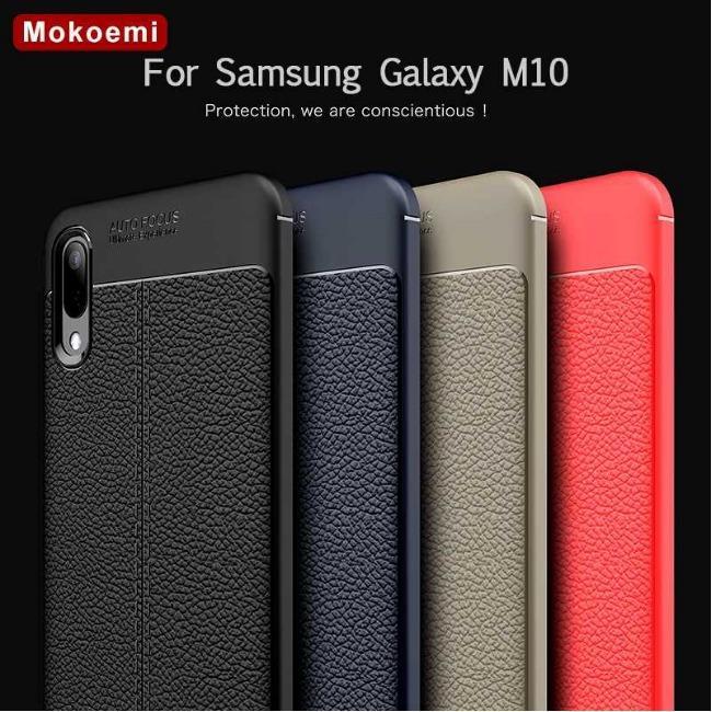 قاب ژله ای طرح چرم Auto Focus Case Samsung Galaxy M10