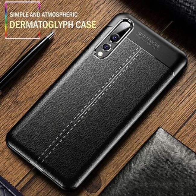 قاب ژله ای طرح چرم Auto Focus Case Samsung Galaxy M30