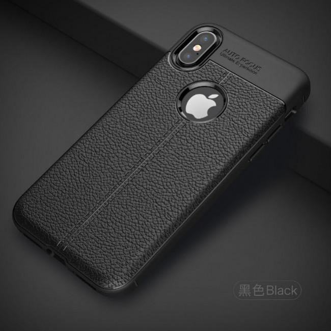 قاب ژله ای طرح چرم Auto Focus Case Apple iPhone XS MAX