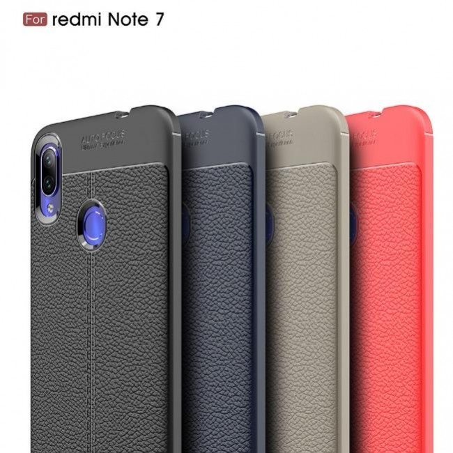 قاب ژله ای طرح چرم Auto Focus Case Xiaomi Redmi 7