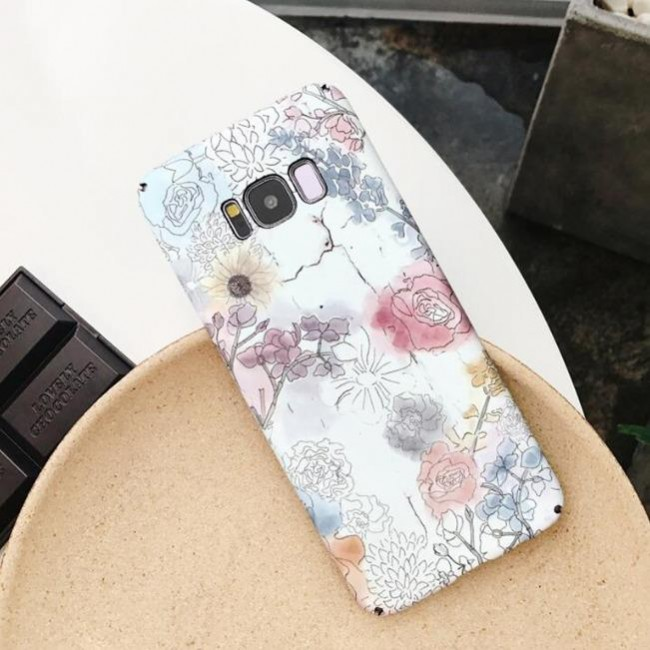 قاب ژله ای طرح گل سامسونگ Flower TPU Case Samsung Galaxy S7