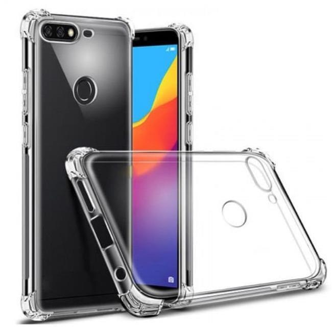 قاب ژله ای شفاف ضدضربه هواوی Shockproof Case for Huawei Y7 Prime 2018