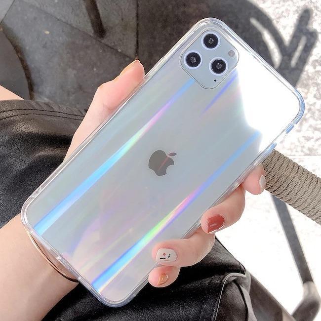 قاب ژله ای شفاف لیزری آیفون TPU Laser Case Apple iPhone 11