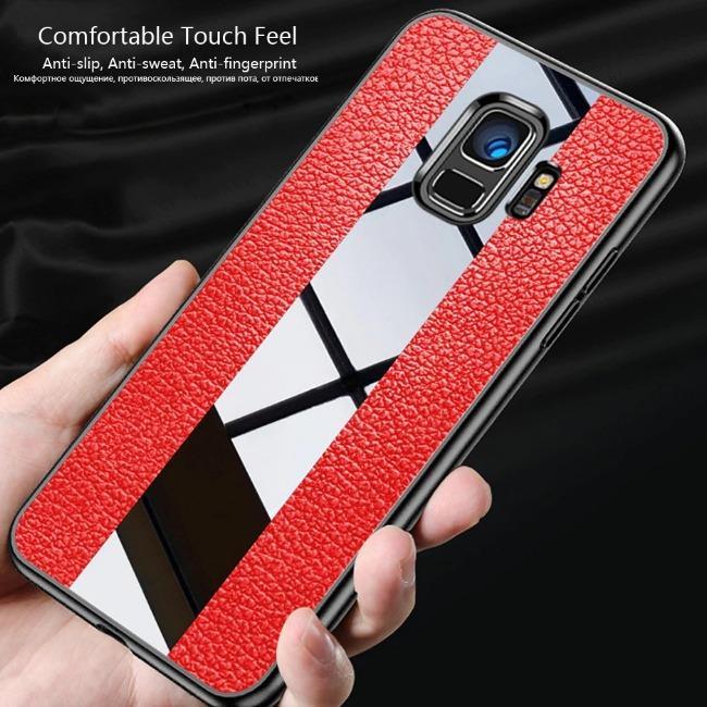 قاب چرمی آینه ای سامسونگ Leather Mirror Samsung Galaxy A6 Plus