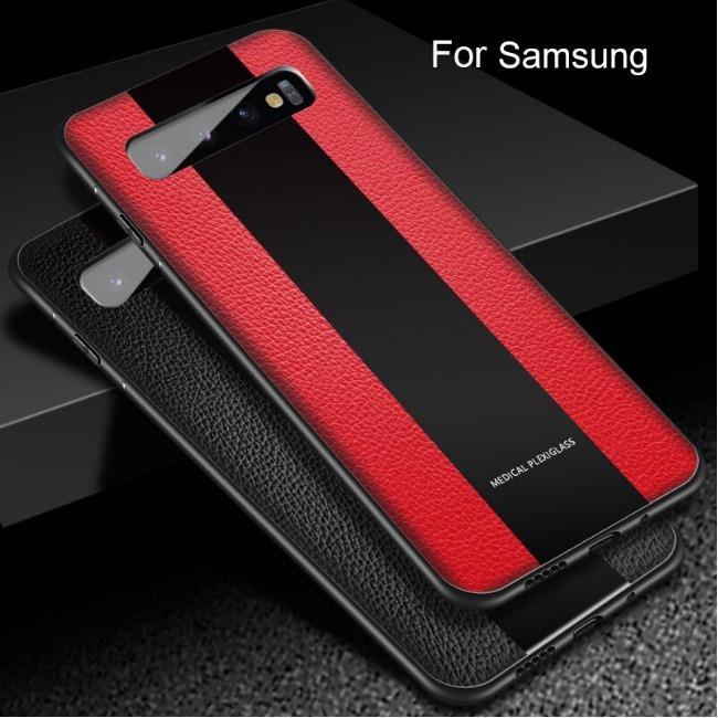 قاب چرمی آینه ای سامسونگ Leather Mirror Samsung Galaxy S10 Plus