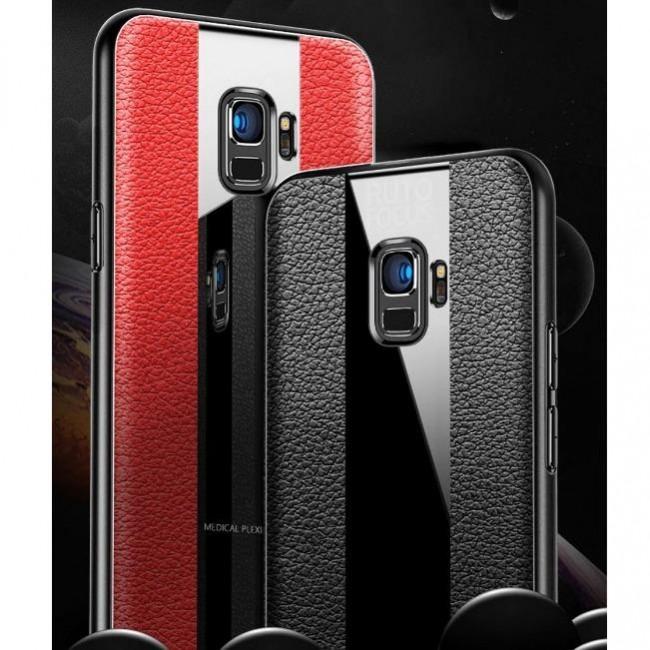 قاب چرمی آینه ای سامسونگ Leather Mirror Samsung Galaxy J6 Plus