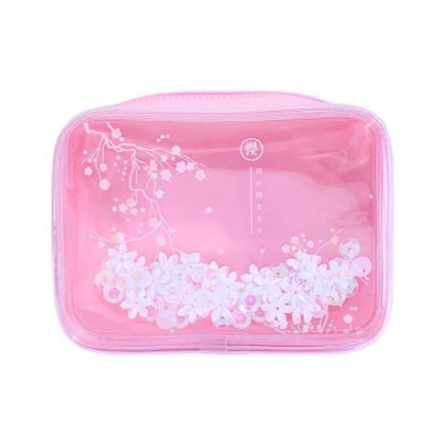 کیف آرایشی شکوفه صورتی Waterproof Bag