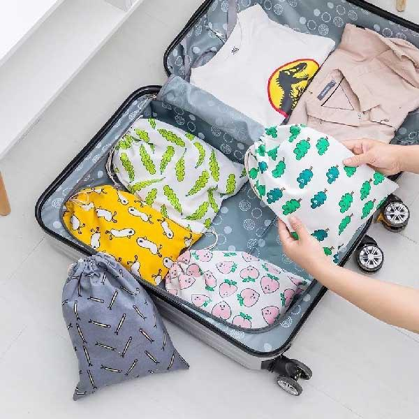 ست کیسه کتان مخصوص چمدان