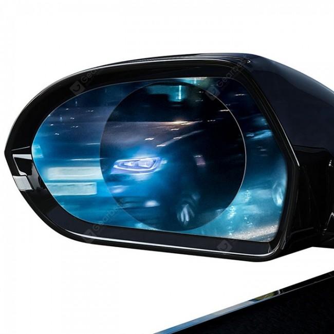 برچسب فویل اتومبیل ضد مه محافظ آینه Baseus 2 Pcs Car Rearview Mirror Rainproof Film 0.15mm Clear Mirror Anti Fog