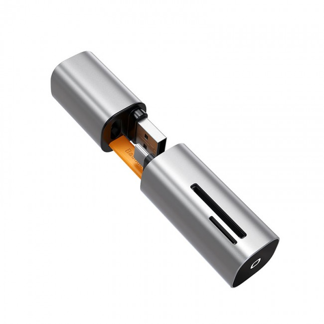 کارتخوان بیسوس مدل Baseus mini-cabin card reader Space CADKQ-A0G