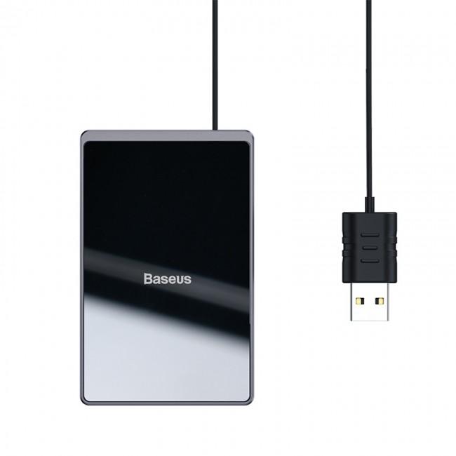 شارژر وایرلس بیسوس مدل Baseus card very thin wireless charger 15W with USB charging cable 1m WX01B-01