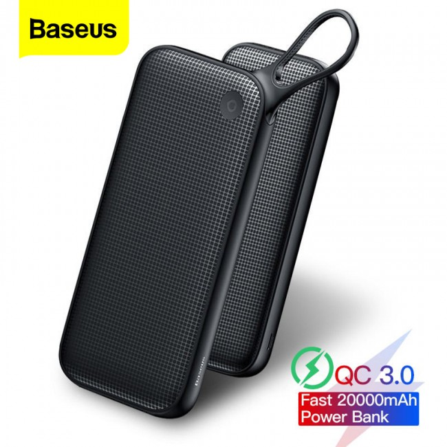 پاور بانک 20000 میلی آمپر بیسوس مدل Baseus powerful type-c pd+qc3.0 quick charge power bank 20000 mAh PPKC-A01