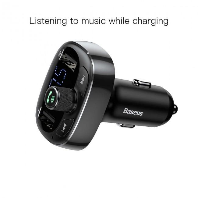 شارژر فندکی و اف ام پلیر بیسوس مدل Baseus Cat S-09 Car bluetooth MP3 Charger CCALL-TM01