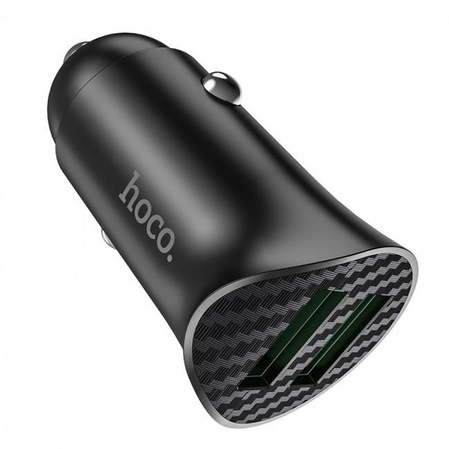شارژر فندکی ماشین هوکو Hoco Z39 farsighted dual port QC3.0 car charger