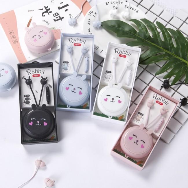 هندزفری فانتزی با طرح خرگوش Popular rabbit cartoon earphones with storage box A115