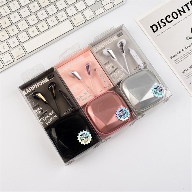 هندزفری فانتزی طرح الماس DiiD ED1021 diamond headset