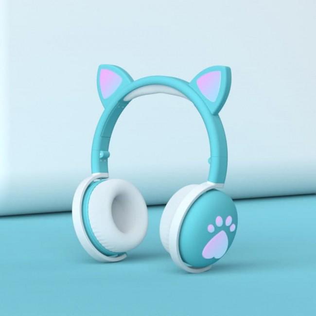هدفون فانتزی طرح پنجه گربه N.H BK1 cat ear paw Bluetooth headphone
