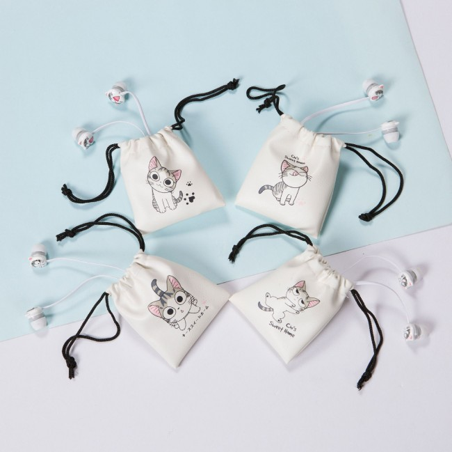 هندزفری فانتزی طرح گربه cute cat cartoon earphone L-28