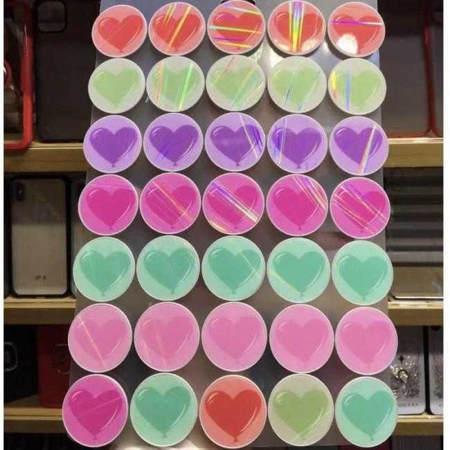 پاپ سوکت طرح قلب Colorful heart pop socket