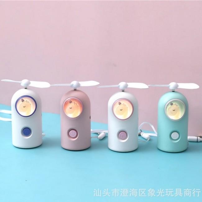 فن شارژی چراغ دار طرح یونیکورن Unicorn Light Fan