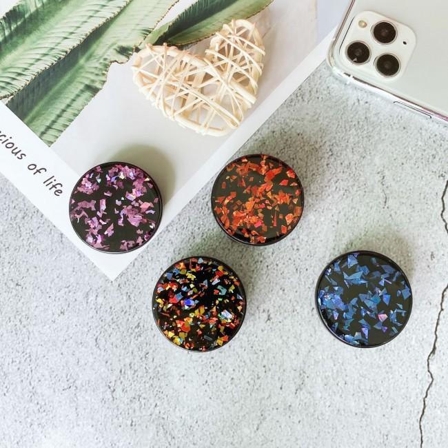 پاپ سوکت دایرهای گلیتری Glitter round shape pop socket