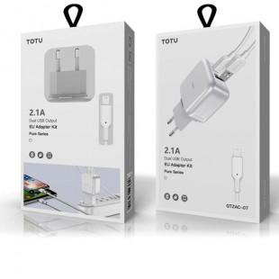 آداپتور دو خروجی توتو TOTU CACA-018 Pure series 2USB EU adapter