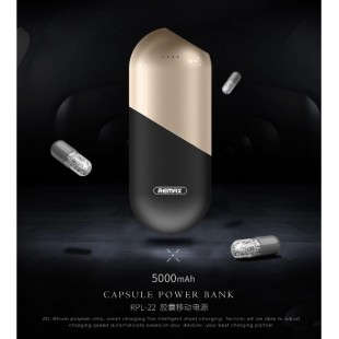 پاوربانک 5000 میلی آمپر ریمکس REMAX Capsule Power Bank 5000mAh RPL-22