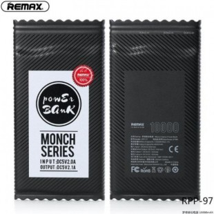پاوربانک 10000 میلی آمپر شکلاتی ریمکس REMAX Monch Series Power Bank RPP-97