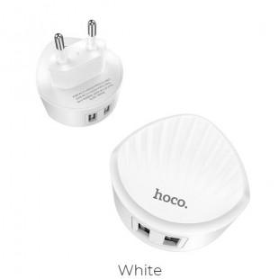 آداپتور فست شارژ دو خروجی هوکو Hoco C67A Shell dual port charger(EU)