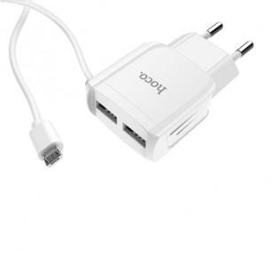 آداپتور دو خروجی هوکو با کابل میکرو Hoco C59 Mega joy double Port Micro (US)