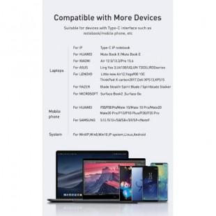 هاب آداپتور تایپ سی چند کاره بیسوس Baseus Multi-functional HUB Type-C to 4 USB2.0
