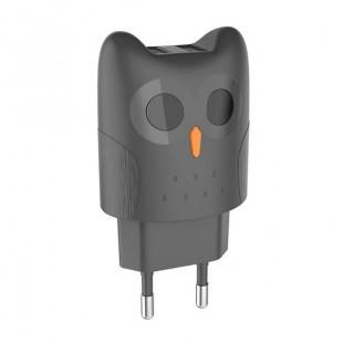 آداپتور 2 پورت طرح جغد HOCO Dual port charger EU