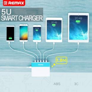 آداپتور 5 پورت ریمکس Remax RU_U1 2.4A 5USB Charger