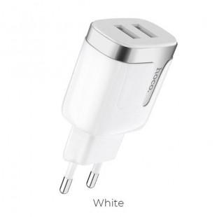 آداپتور دو خروجی هوکو Hoco C64A Engraved dual port charging adapter (EU)