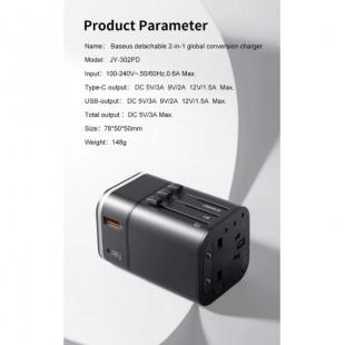 آداپتور چند خروجی شارژ سریع بیسوس Baseus Removable 2in1 universal travel adapter PPS Quick Charger