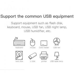 هاب آداپتور پنج خروجی بیسوس Baseus round Box HUB USB 3.0 to USB3.0 USB2.0 Adapter