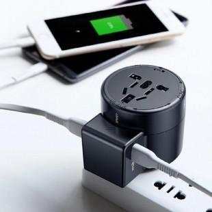 آداپتور چند ورودی مسافرتی بیسوس Baseus Multi-function Charger 2 USB Adapter