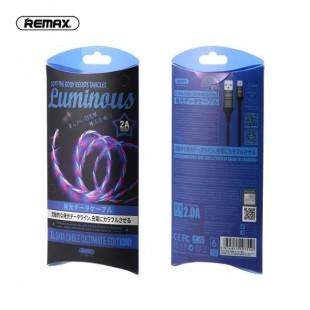 کابل شارژ لایتنینگ چراغ دار ریمکس Remax Lightning light cable RC-130i