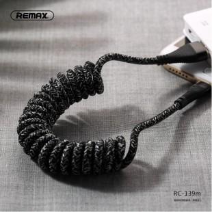 کابل شارژ لایتنینگ فنری کنفی ریمکس REMAX Super Series Data Cable RC-139 (Coiled Version)