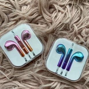 هندزفری لیزری براق طرح آیفون Apple Laser Colorful Handsfree